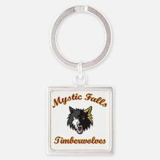 MFTimberwolves WhtBlk Square Keychain