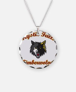MFTimberwolves WhtBlk Necklace