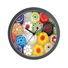 Flower_Party_Stadium_Blanket Wall Clock