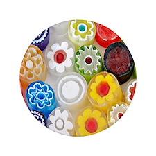 """Flower_Party_Stadium_Blanket 3.5"""" Button"""