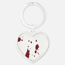 dirtandwalkwhite Heart Keychain