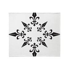 Chaos Fleur Di Li Throw Blanket