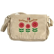 Retired Teacher Pink Daisies Messenger Bag
