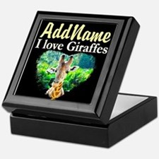 GIRAFFES RULE Keepsake Box