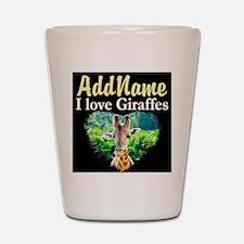 GIRAFFES RULE Shot Glass