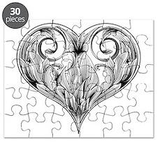 woodcut flower Puzzle