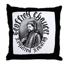 chaucer_safe Throw Pillow