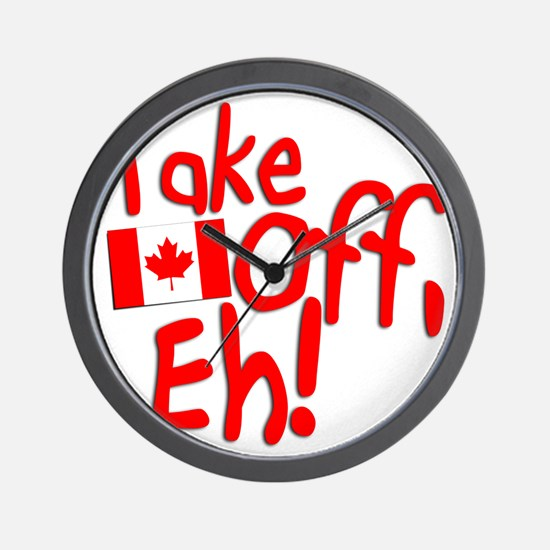 Take Off, Eh! Wall Clock