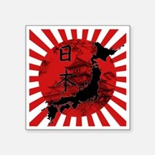 "japan Square Sticker 3"" x 3"""