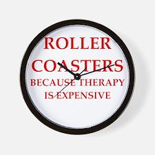 roller coaster Wall Clock