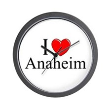 """I Love Anaheim"" Wall Clock"