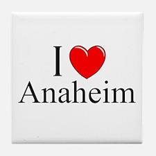 """I Love Anaheim"" Tile Coaster"