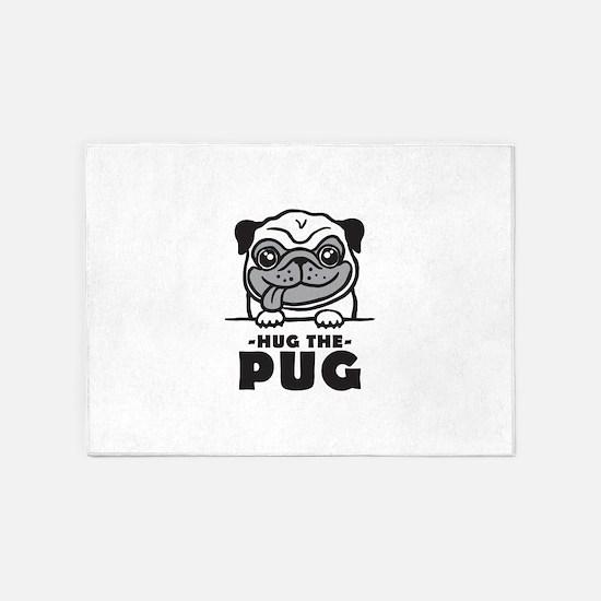 Hug The Pug 5'x7'Area Rug