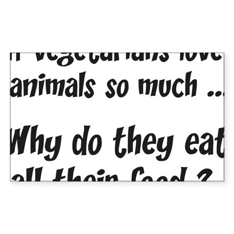 vegetariansfood1C Sticker (Rectangle)