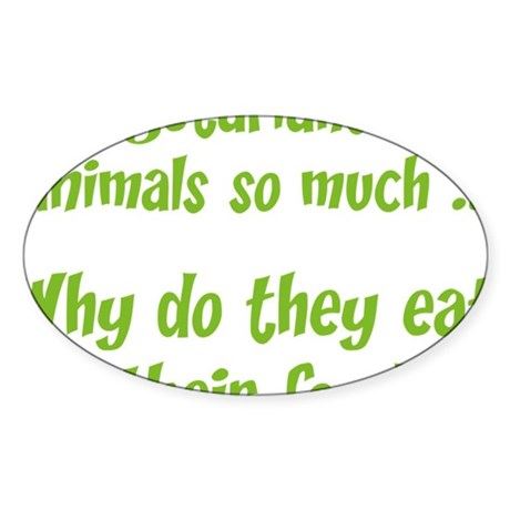 vegetariansfood1A Sticker (Oval)