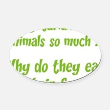 vegetariansfood1A Oval Car Magnet