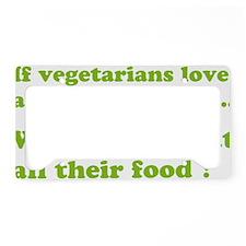 vegetariansfood1D License Plate Holder
