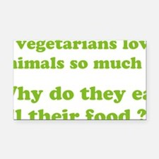 vegetariansfood1D Rectangle Car Magnet