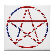 """""""Stars & Stripes Pentagram"""" Tile Coaster"""