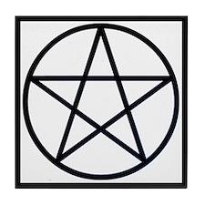 """""""Bordered Pentagram"""" Tile Coaster"""