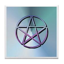 """""""Blue Pentagram"""" Tile Coaster"""