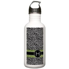 441_damask_monogram_H2 Water Bottle