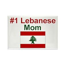 Lebanese #1 Mom Rectangle Magnet