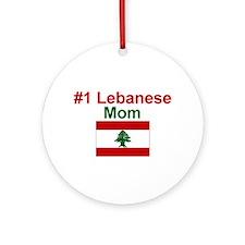 Lebanese #1 Mom Keepsake Ornament