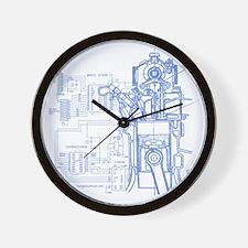 mech14drk Wall Clock