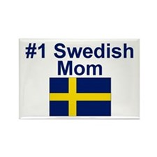 #1 Swedish Mom Rectangle Magnet