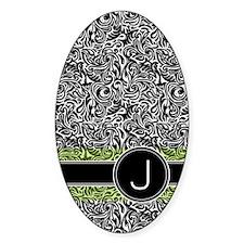 441_damask_monogram_J2 Decal