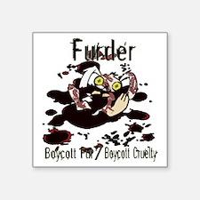"Furder Square Sticker 3"" x 3"""