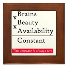 Constant - love? Framed Tile