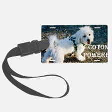 coton powered LICENCE copy Luggage Tag