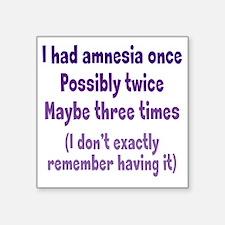 """amnesia2 Square Sticker 3"""" x 3"""""""
