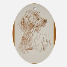 English_Setter_KlineY Oval Ornament