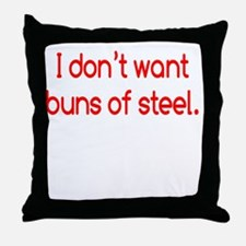 buns-of-steel2 Throw Pillow