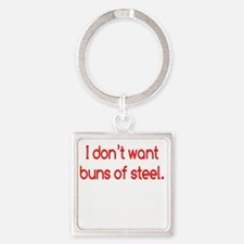 buns-of-steel2 Square Keychain