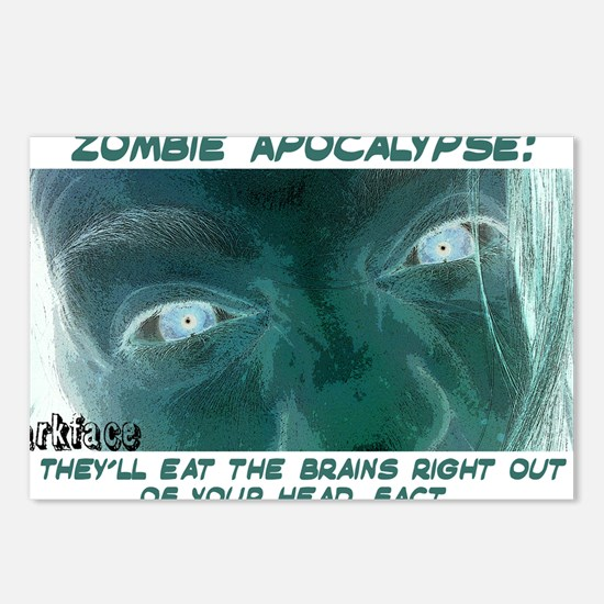 zombie 3 design copy Postcards (Package of 8)