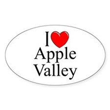 """""""I Love Apple Valley"""" Oval Decal"""