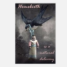 bird delivery 7x10 Postcards (Package of 8)
