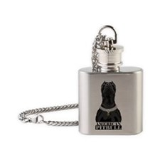 American Pitbull Flask Necklace