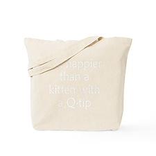 kitten-q-tip3 Tote Bag