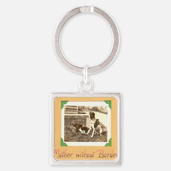 mother borders Square Keychain
