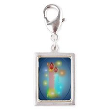 Lights ornament_oval Silver Portrait Charm