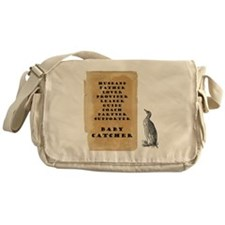Penguin father 9x9 Messenger Bag