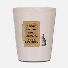 Penguin father 9x9 Shot Glass
