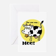 The Cow Says Moo Greeting Cards (Pk of 10)