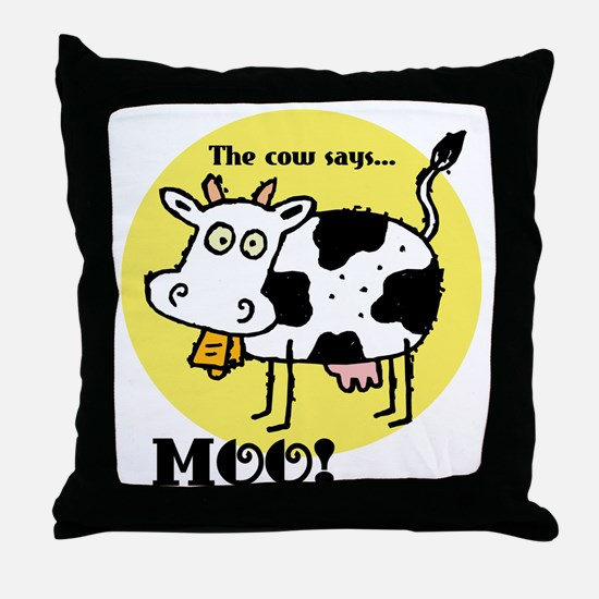 The Cow Says Moo Throw Pillow