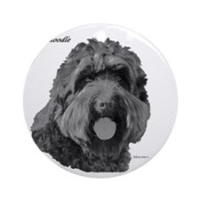 Labradoodle Round Ornament